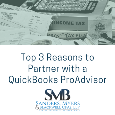 Top 3 Reasons to Partner with a QuickBooks ProAdvisor